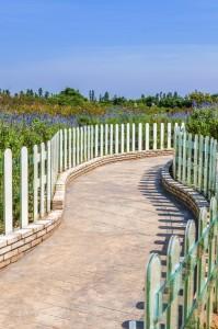 walkway fence