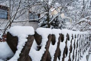 Wood Fence Winter