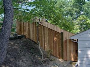 seal wood fence